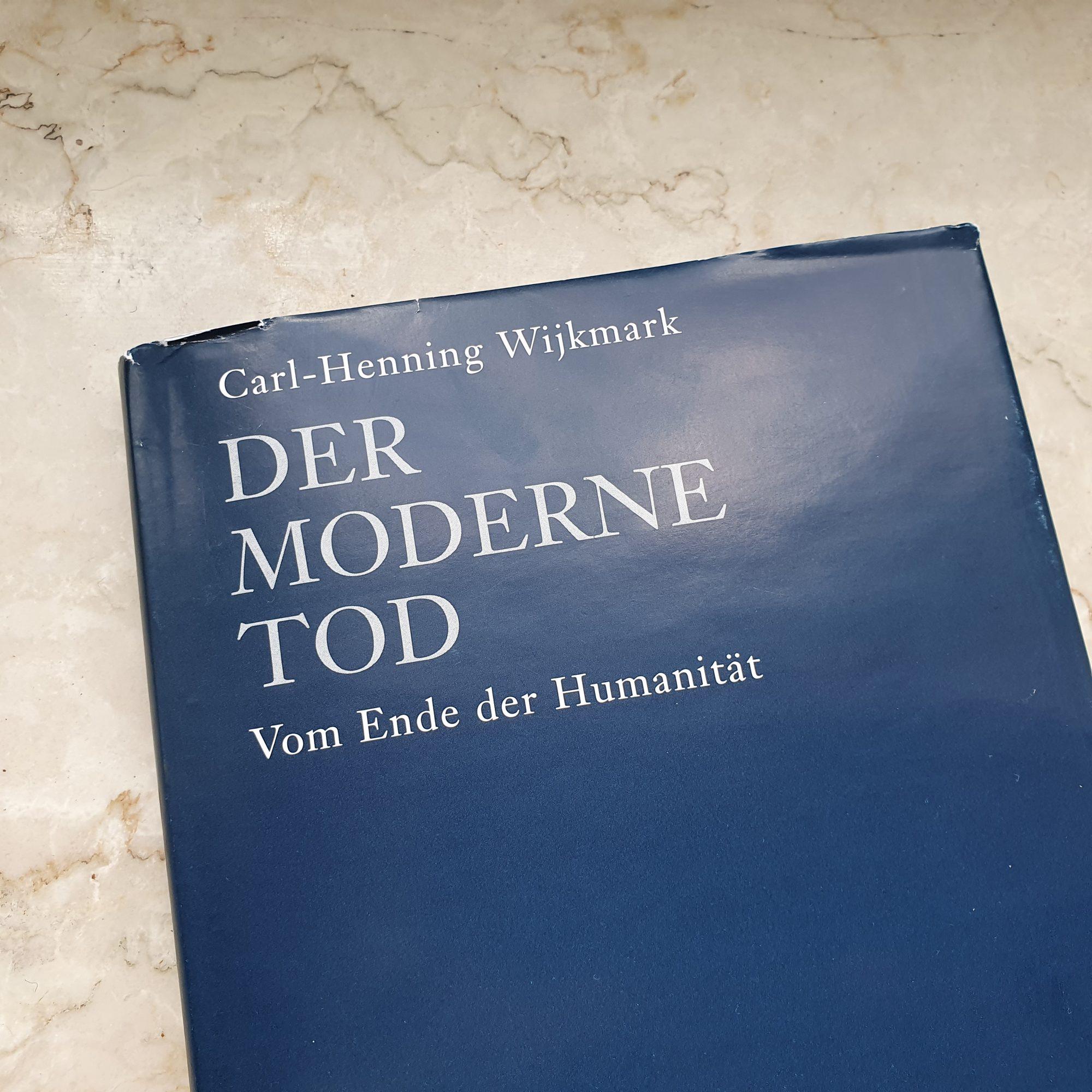 """Buchdeckel """"Der moderne Tod"""" von Carl-Henning Wijkmark"""