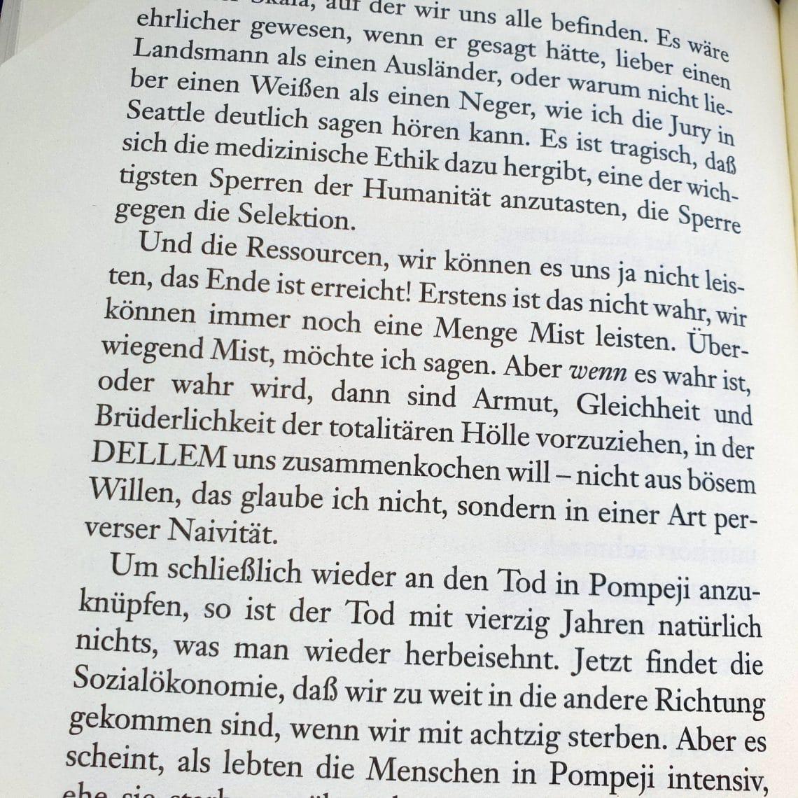 """Textauszug aus """"Der moderne Tod"""""""